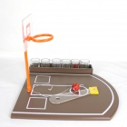 Finger Shot Basketball Wine Toys - Orange + Brown + Red + Yellow