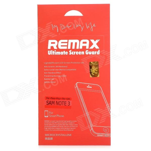 REMAX PET Micro Crystal Screen Guard for Samsung GALAXY Note 3 N9000 - Transparent convenient rectangle sticky note memo pads 4 x 100 pieces