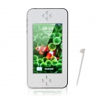 "JXD A16 4.3"" Touch Screen DV Game Console w/ 5.0 MP Camera / FM radio / AV output / TF - White"