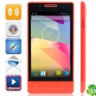 "H3039 MTK6572 Dual Core Android 2.3.6 GSM Bar Phone w / 4,0 "", Quad-Band, FM und GPS - Red"