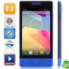 "H3039 MTK6572 Dual Core Android 2.3.6 GSM Bar Phone w / 4,0 "", Quad-Band, FM und GPS - Blau"