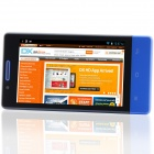 "H3039 MTK6572 Dual-core Android 2.3.6 GSM Bar Phone w/ 4.0"", Quad-Band, FM and GPS - Blue"
