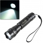Ultra Fire WF-501B CREE XML-T6 600lm 3-Mode White Flashlight w/ Strap - Black (1 x 18650)