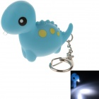 CS-008 Cute Dinosaur Style Sound & Light  LED White Light Keychain - Blue (3 x AG10)