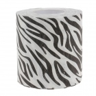 Novelty Zebra Texture Toilet Paper 3-Layer Roll Tissue - White + Black