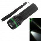 251 Mini 3-Mode 1-LED 240lm Convex Lens White Light Zooming Flashlight - Black +Green ( 3 x AAA)