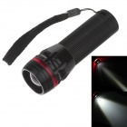 251 Mini 3-Mode 1-LED 240lm Convex Lens White Light Zooming Flashlight - Black + Red ( 3 x AAA)