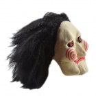 Long Hair Billy the Puppet Mask - Ivory + Red + Black