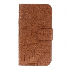 Universal Weave Style Mobile Phone Leather Cases - Coppery