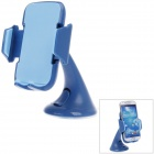Plastic Universal Car Swivel Mount Holder Bracket for Samsung Galaxy S4 i9500 - Blue