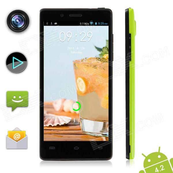 XIAOCAI X9 Quad Core Android 4.2 WCDMA Bar Phone w/ 4.5″ OGS IPS, 1GB RAM, 4GB ROM, GPS – Green