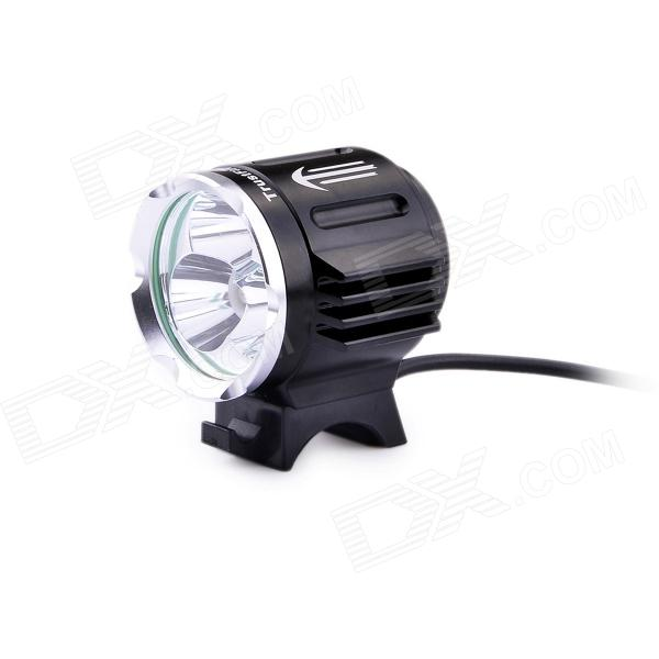 TrustFire TR-D011 1800lm 3-Mode Cool White Bikelight w/ 3 x Cree XM-L2 T6 - Black (4 x 18650) trustfire tr d014 7 led 4 mode 3000lm cool white bike light grey purple 6 x 18650