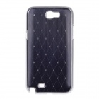 Rhombus Twill Style Protective Plastic Back Case for Samsung Galaxy S4 i9500 - Black + Silver