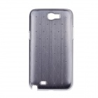 Rhombus Twill Style Protective Plastic Back Case for Sansung Galaxy S4 i9500 - Grey + Silver