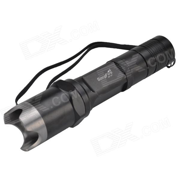 SingFire SF-87 600lm 5-Mode White Flashlight w/ Cree XM-L T6 - Black + Silver (1 x 18650) 600lm 3 mode white bicycle headlamp w cree xm l t6 black silver 4 x 18650