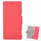 NILLKIN  Fresh Series Protective PU Leather + PC Case for Sony Xperia M - Red