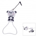Cute Panda Style Micro USB to USB 2.0 Cable + 3.5mm Earphone Jack Anti-Dust Plug for Samsung - White
