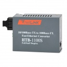 HTB-1100S 25KM Single Mode Fast Ethernet Converter w/ RJ-45 / SC - Grey
