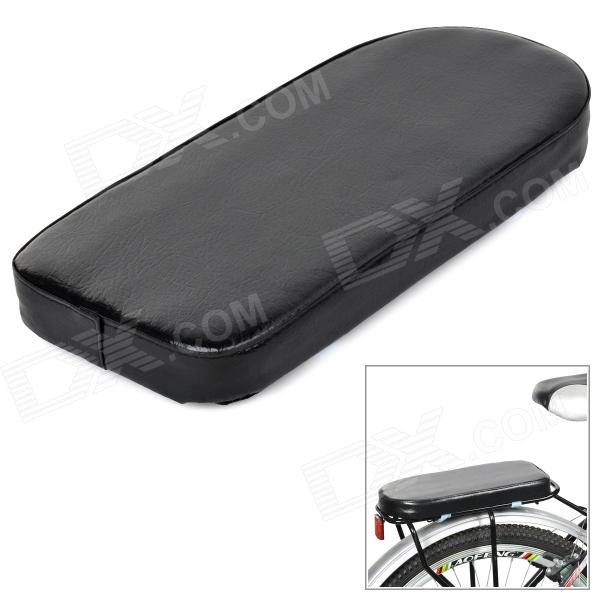 Bicycle Rear Seat PU Cushion - Black