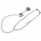 DengGuan Healthy Medical Double Stethoscope - White + Silver + Black