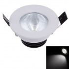 ZIYU ZY-0901-003 3W 240LM 6500K 1-COB LED White Ceiling Down Light - White + Black (180-240V)