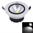 ZIYU ZY-0810-007 7W 560LM 6500K 1-COB LED White Light Ceiling Down Light - White + Black (180-240V)