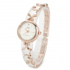JW 1050JW-F269 Elegant Zinc Alloy Analog Quartz Wrist Watch for Women - White + Golden (1 x AG4)