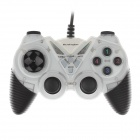 Microkingdom 8600 Wired Dual-Shock USB Game Stick Controller for PC - White + Black
