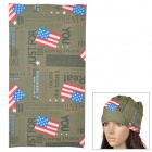 Free Soldier 897487 Stylish Outdoor Sports Polyester Head Scarf - Army Green