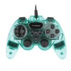 Microkingdom 870S Wired Dual-Shock USB Game Stick Controller for PC - Green + Black