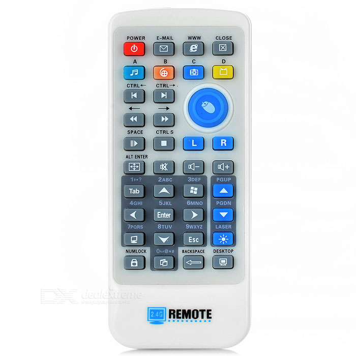 DX / 2.4GHz USB 2.0 Wireless Remote Control for Desktops / Laptops - White