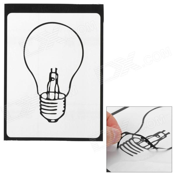Stylish light bulb pattern sticker for apple macbook 11 13 15 17 black