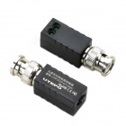 UTP UTP101P-D1(mini) Single Channel Passive Twisted Pair Video Transceiver - Black + Silver (2 PCS)