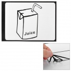 "Creative Juice Box Style Decoration Sticker for Macbook 11"" / 13"" / 15"" / 17"""