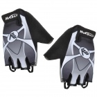 NUCKILY NS3553 Outdoor Mountaineer Half-Finger Gloves - Black + Grey + White (Size L / Pair)