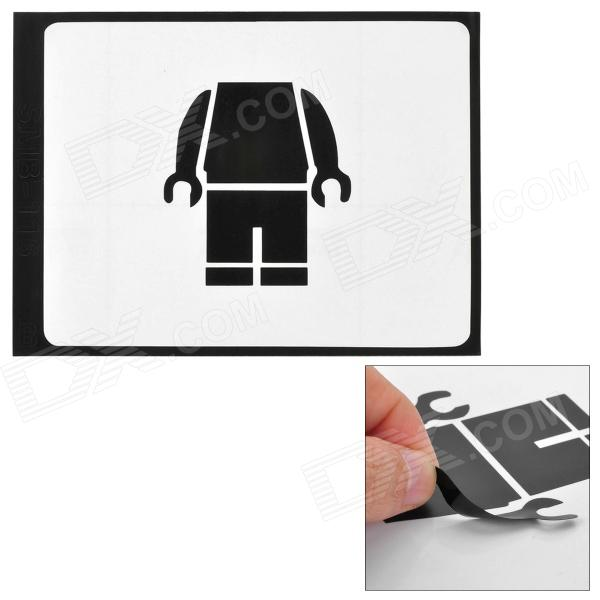 Stylish Robot Pattern Sticker for Apple Macbook 11 / 13 / 15 / 17 - Black