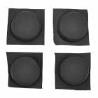 QW-001 Anti-vibration / Anti-shock PVC Foot Pads for Computer Case / Box - Black (4 PCS)