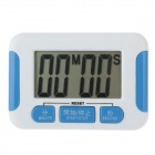 "332 2.2"" LCD Kitchen Digital Timer - White + Blue (1 x AAA)"