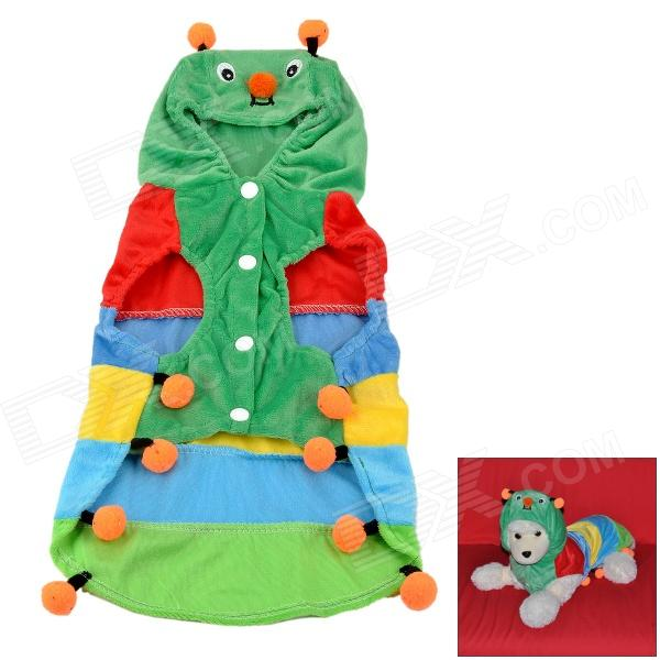 JUQI Velvet Cotton Caterpillar Style Cloth for Pet (Size XL)