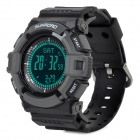 FR821A Sports Digital Altimeter / Compass / Barometer / Stopwatch / Wrist Watch - Black + Grey