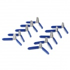 JiaHui A036 Metal Padlock Shims - Deep Blue + Silver (10 PCS)