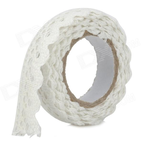 DIY Cotton Nylon Lace Adhesive Tape - White