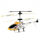HengXiang HX701 Mini 3.5-CH IR Remote Control R/C Helicopter w/ Gyro - Yellow + White + Black