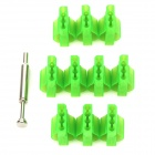 4Pin Replacement Plastic Power Terminals - Green (10 PCS)