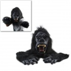 Angry Black King Kong  Mask w/ Gloves -  Black