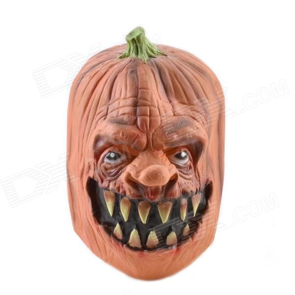 Natural Rubber Pumpkin Mask - Naranja + Verde