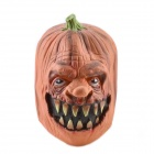 Natural Rubber Pumpkin Mask - Orange + Green