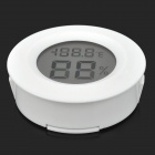 "HongYang Tl8037 0.9"" LCD Embedded Thermometer / Hygrometer - White"