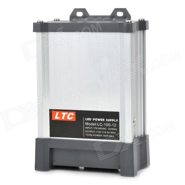 LTC LC-100-12 100W Energy-Efficient Rainproof Switching LED Power Supply - Silver + Black ltc lc 300 5 rainproof ac 180 250v to dc 5v 60a 300w switching power supply silvery black