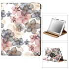 CT211002 Fashionable Floral Pattern 360' Rotate Back PU Leather Case for Ipad 2 / 3 / 4 - Multicolor